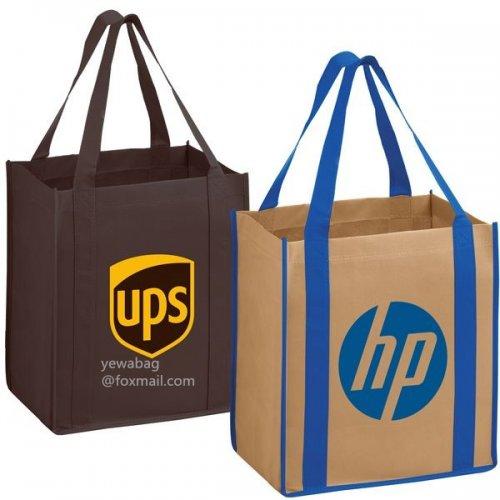 定制打印双色可重复使用无纺布购物袋