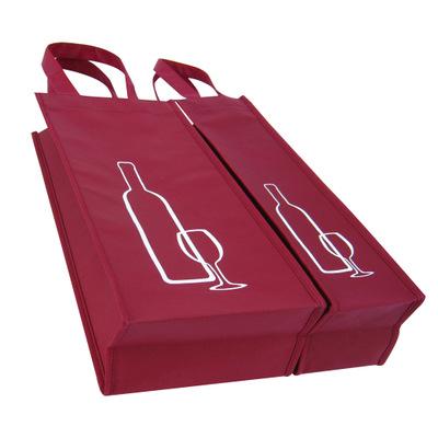 装红酒单支和双支无纺布袋的尺寸